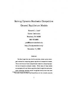 Solving Dynamic Stochastic Competitive General ... - Stanford University