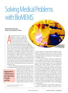 Solving Medical Problems with BioMEMS - ECE UC Davis