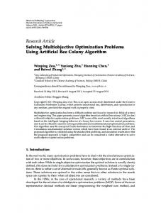 Solving Multiobjective Optimization Problems Using Artificial Bee ...
