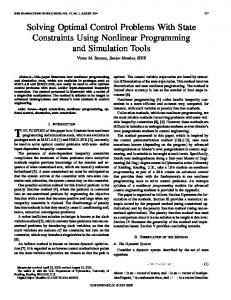 Solving Optimal Control Problems With State ... - Semantic Scholar