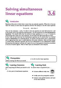 Solving simultaneous linear equations 3