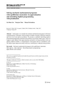 Solving stochastic mathematical programs with equilibrium ... - PolyU