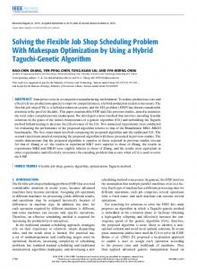Solving the Flexible Job Shop Scheduling Problem With ... - IEEE Xplore