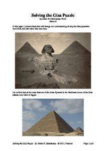 Solving the Giza Puzzle