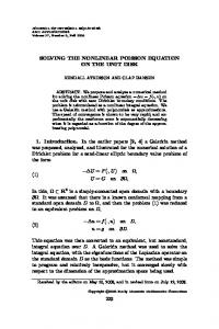 SOLVING THE NONLINEAR POISSON EQUATION