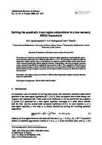 Solving the quadratic trust-region subproblem in a ... - Semantic Scholar