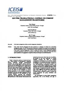 solving transactional control in current management ...
