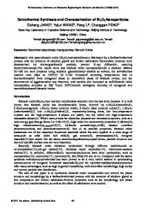 Solvothermal Synthesis and Characterization of