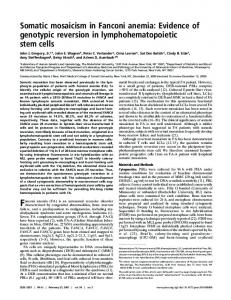 Somatic mosaicism in Fanconi anemia: Evidence