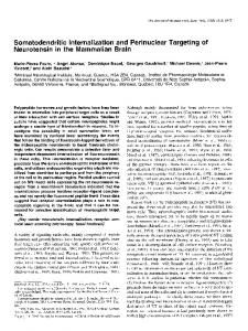 Somatodendritic Internalization and Perinuclear Targeting of ...