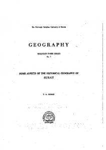 Some aspects of Historical Geography of ...