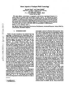 Some Aspects of Tachyon Field Cosmology