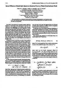 Some Effects on Relativistic Quantum Systems Due to a Weak ...