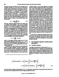 Some intricacies of the momentum operator in quantum ...www.researchgate.net › publication › fulltext › Some-intri