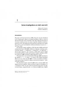Some investigations on mbC and mCi - (CLE) - Unicamp