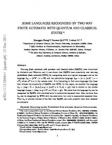Some Languages Recognized by Two-Way Finite Automata with ...