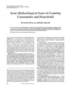 Some Methodological Issues in Counting Communities and Households