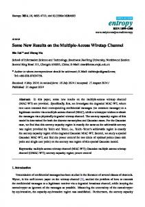 Some New Results on the Multiple-Access Wiretap ... - Semantic Scholar