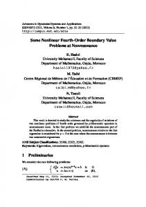 Some Nonlinear Fourth-Order Boundary Value Problems at