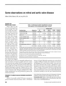 Some observations on mitral and aortic valve disease - Baylorhealth.edu