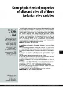 Some physiochemical properties of olive and olive oil ...