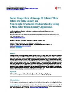 Some Properties of Group-III Nitride Thin Films Directly Grown on Non