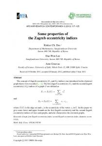Some properties of the Zagreb eccentricity indices - ars mathematica