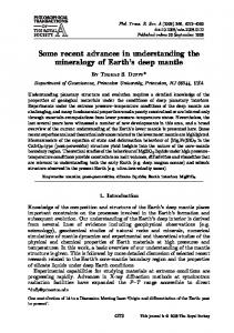 Some recent advances in understanding the ... - Princeton University