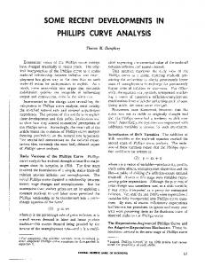 Some Recent Developments in Phillips Curve Analysis