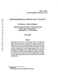 Some remarks on defects and T-duality