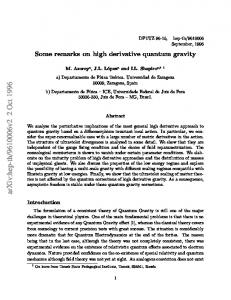 Some remarks on high derivative quantum gravity