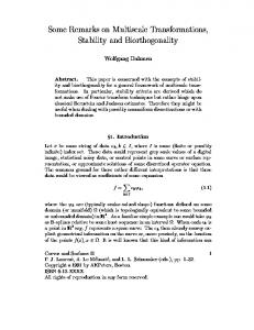 Some Remarks on Multiscale Transformations