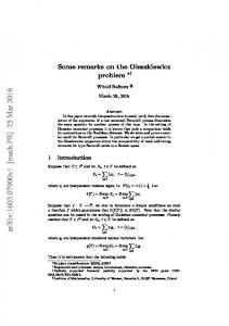 Some remarks on the Oleszkiewicz problem