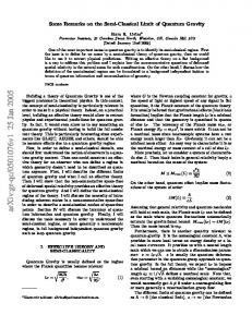 Some Remarks on the Semi-Classical Limit of Quantum Gravity