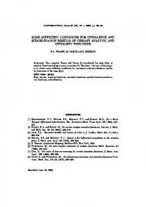 some sufficient conditions for univalence and ... - math.ubbcluj.ro