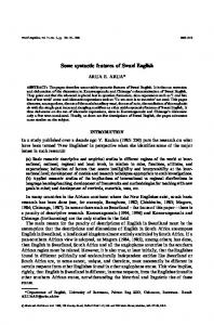 Some syntactic features of Swazi English - Wiley Online Library