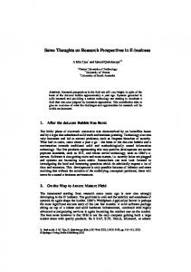 Some Thoughts on Research Perspectives in E-business - Springer Link