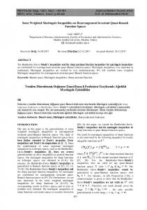 Some Weighted Martingale Inequalities on ... - DergiPark