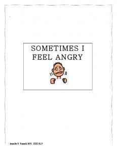 Sometimes I Feel Angry Book Format