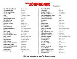 Song List - The Soupbones