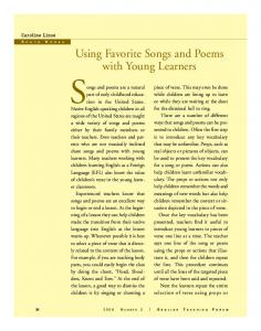 Songs and poems for young learners.pdf - Ibeu