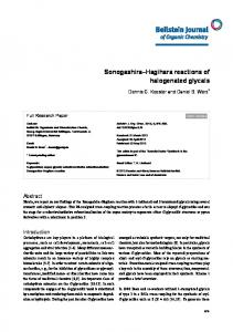 Sonogashira–Hagihara reactions of halogenated ... - Beilstein Journal