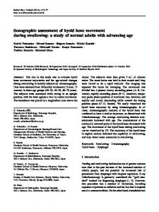 Sonographic assessment of hyoid bone movement ... - Springer Link