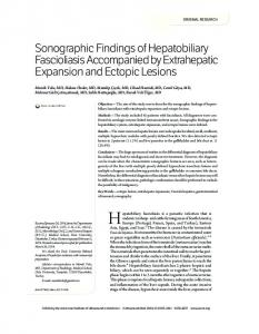 Sonographic Findings of Hepatobiliary ... - Wiley Online Library
