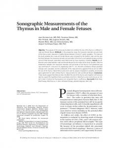 Sonographic Measurements of the Thymus in ... - Wiley Online Library