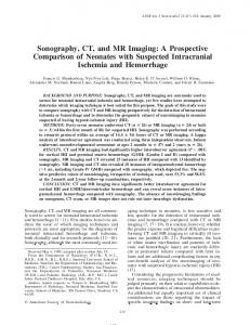 Sonography, CT, and MR Imaging - CiteSeerX