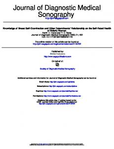 Sonography Journal of Diagnostic Medical