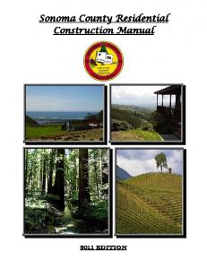 Sonoma County Residential Construction Manual