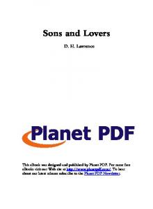 Sons and Lovers - Planet PDF