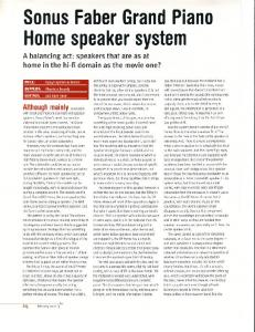 Sonus Faber Grand Piano - Technology Factory - MAFIADOC COM